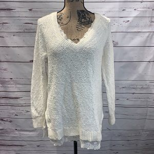 Knitted & Knotted Knit Sweater Small Anthropologie